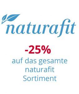 Minus 25% auf das gesamte Naturafit Sortiment