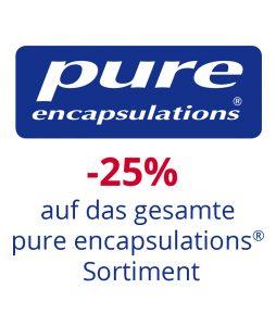 Pure encapsulations 20% Rabatt auf das gesamte lagernde Sortiment